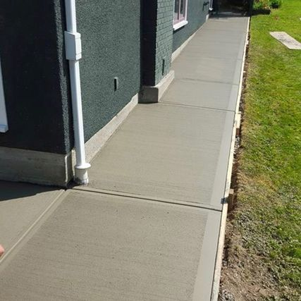 concrete path around building