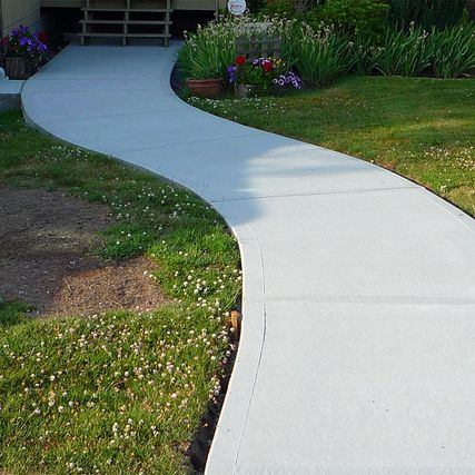 concrete path for walkway