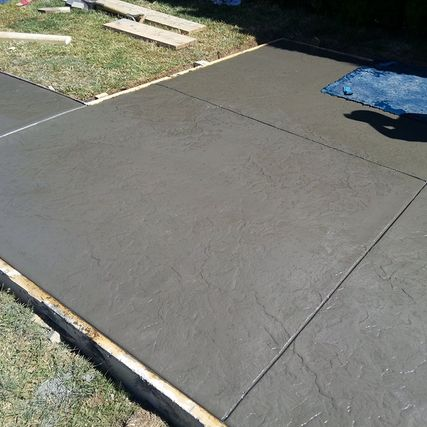 newly constructed concrete layer